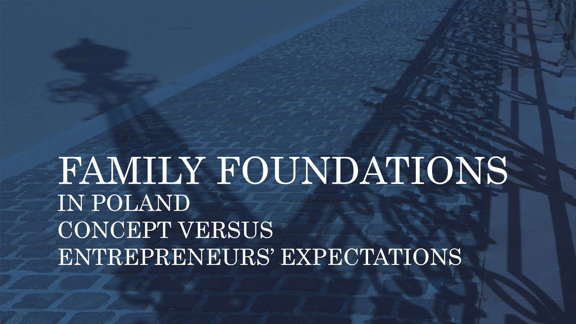 FAMILY FOUNDATIONS IN POLAND. CONCEPT VERSUS ENTREPRENEURS' EXPECTATIONS_Panasiuk&Partners